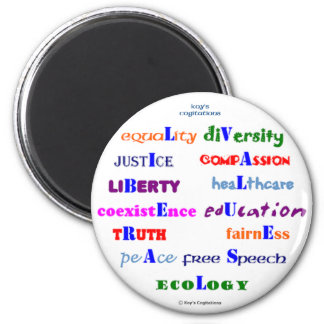 Liberal Values 6 Cm Round Magnet