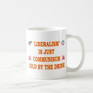 LIBERALISM IS JUST COMMUNISM BASIC WHITE MUG