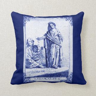 Liberality Victorian Tarot Card Indigo Blue Cushions