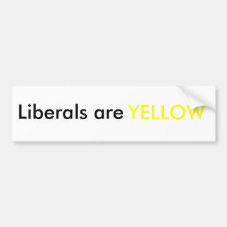 liberals are yellow bumper sticker