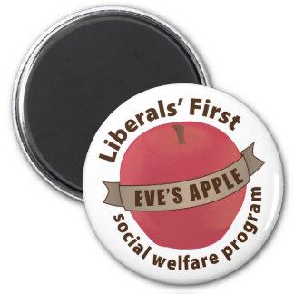 Liberals' First Social Welfare Program 6 Cm Round Magnet