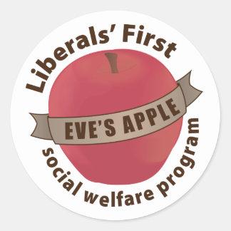 Liberals' First Social Welfare Program Sticker