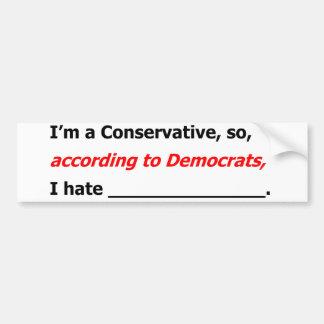 Liberals' Lies Bumper Sticker