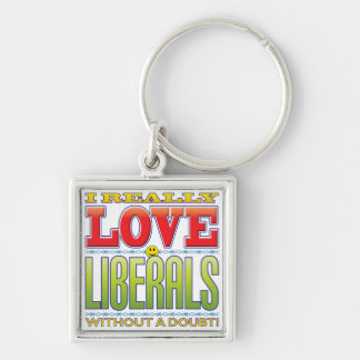 Liberals Love Face Keychains