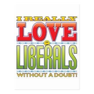 Liberals Love Face Postcard