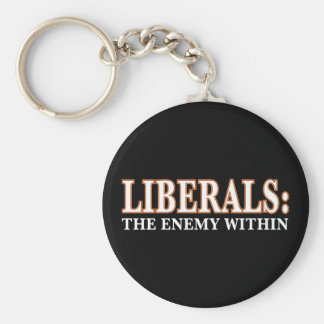 Liberals - The Enemy Within Basic Round Button Key Ring