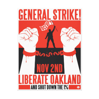 Liberate Oakland Occupy Wall Street Wrapped Canvas Canvas Prints