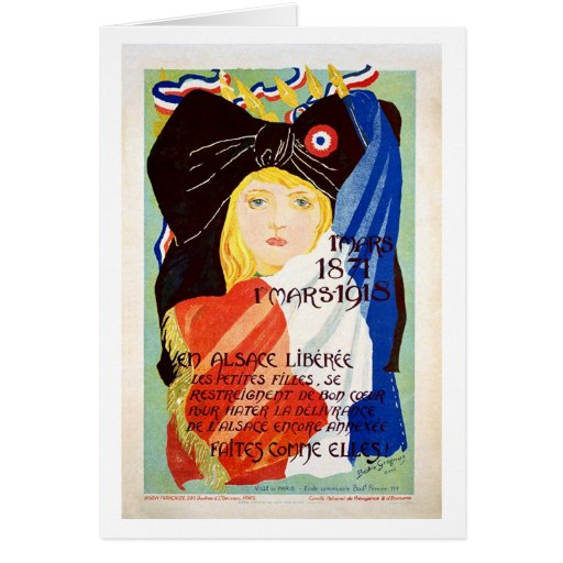 Liberated Alsace - French Greeting Cards