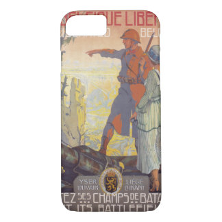 Liberated Belgium Propaganda Poster iPhone 7 Case