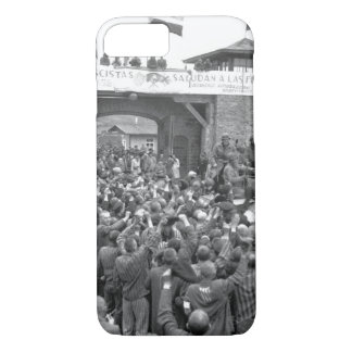 Liberated prisoners in the Mauthausen_War Image iPhone 7 Case