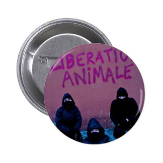 Liberation Animale 6 Cm Round Badge