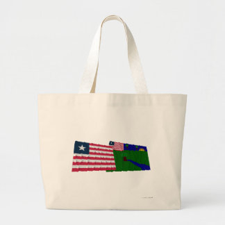Liberia and River Gee County Waving Flags Tote Bag