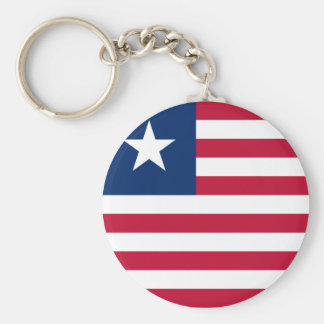 liberia basic round button key ring