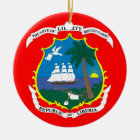 LIBERIA*- Ceramic Christmas Ornaments