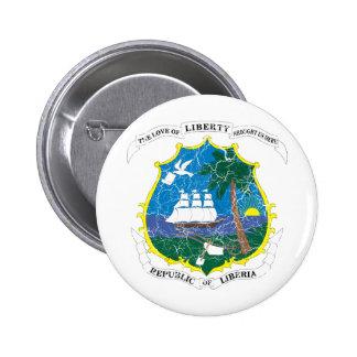 Liberia Coat Of Arms 6 Cm Round Badge