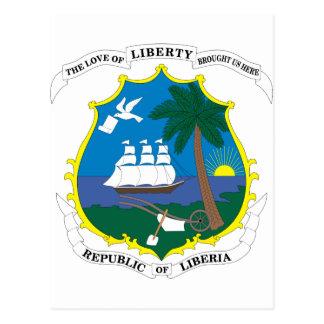 Liberia Coat Of Arms Postcard