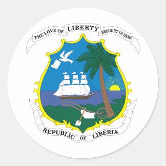 Liberia Coat Of Arms Round Sticker