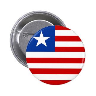liberia country flag nation symbol 6 cm round badge