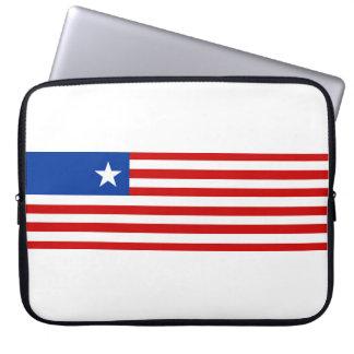 liberia country flag nation symbol laptop sleeve