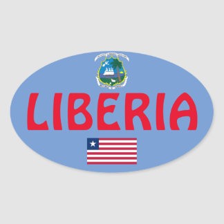 Liberia European Oval Style Sticker