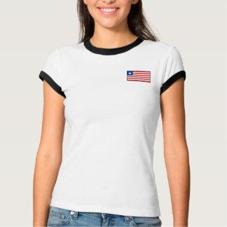 Liberia Flag + Map T-Shirt