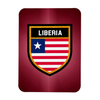 Liberia Flag Rectangular Photo Magnet