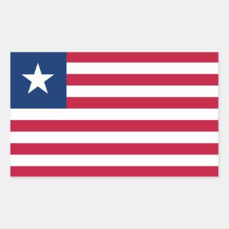 Liberia Flag Rectangular Sticker