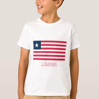 Liberia Flag with Name T-Shirt
