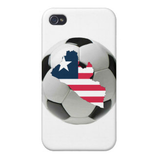 Liberia football soccer case for iPhone 4