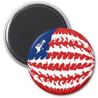 Liberia Gnarly Flag 6 Cm Round Magnet