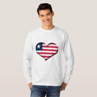 Liberia Heart Flag T-Shirt