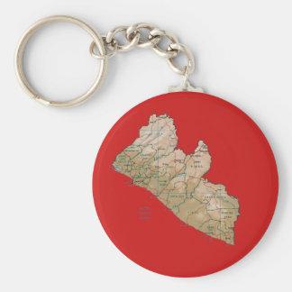 Liberia Map Keychain