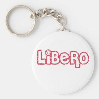 Libero Volleyball Basic Round Button Key Ring