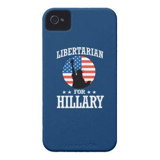 LIBERTARIAN FOR HILLARY iPhone 4 CASE