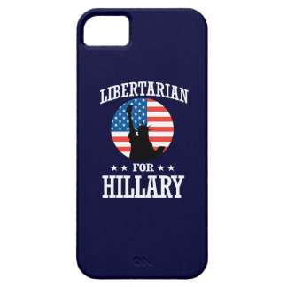 LIBERTARIAN FOR HILLARY iPhone 5 COVER