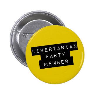Libertarian Party Member 6 Cm Round Badge