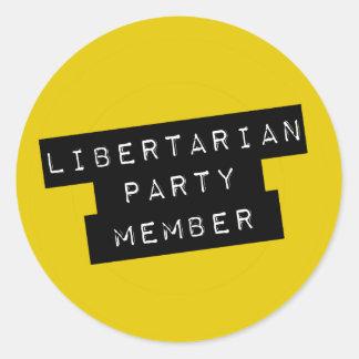 Libertarian Party Member Round Sticker