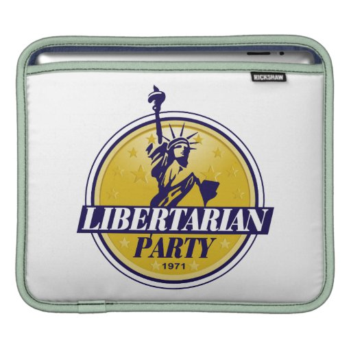 Libertarian Political Party Logo Sleeves For iPads