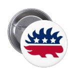 Libertarian Porcupine Button