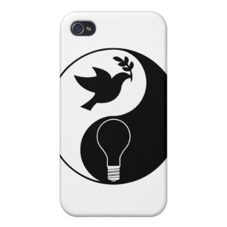 Libertarianism Logo Emphasizing Peace & Innovation iPhone 4 Cases