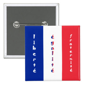 liberté, égalité, fraternité 15 cm square badge