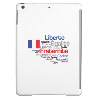 Liberté, Égalité, Fraternité - French Motto Flag Case For iPad Air