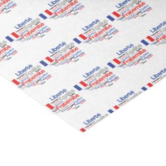 Liberté, Égalité, Fraternité - French Motto Flag Tissue Paper