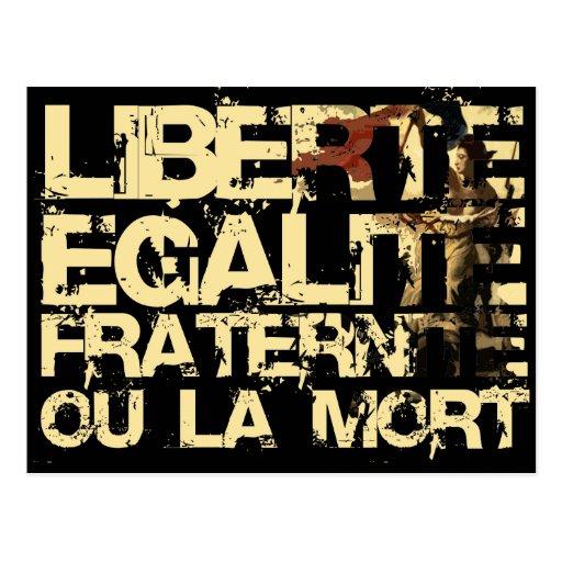 Liberte Egalite Fraternite: French Revolution Postcard