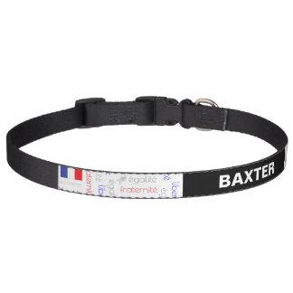 Liberté - Egalité - Fraternité French Word Pattern Pet Collar