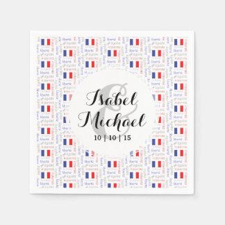 Liberté - Egalité - Fraternité French Word Pattern Paper Napkin