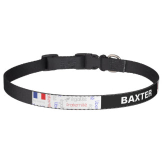 Liberté - Egalité - Fraternité French Word Pattern Pet Collar