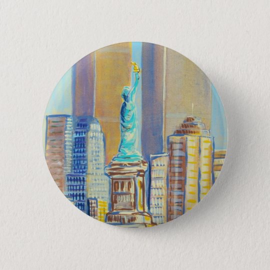 Liberty 6 Cm Round Badge