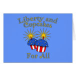Liberty and Cupcakes for All Products Greeting Cards