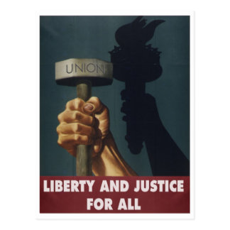 Liberty and Justice for All -- Pro-Union Postcard